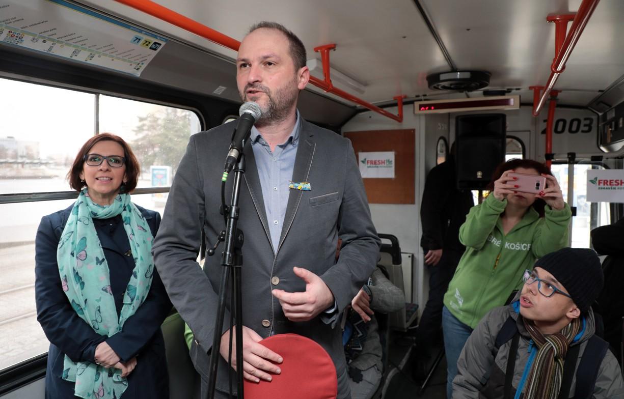 Prvá jazda košického Dobrého trolejbusu