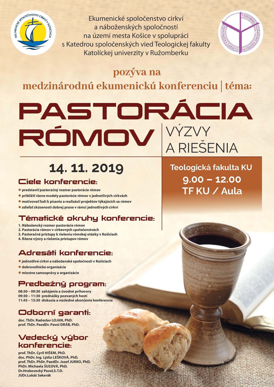 14.11.2019 PASTORÁCIA RÓMOV - Výzvy a riešenia