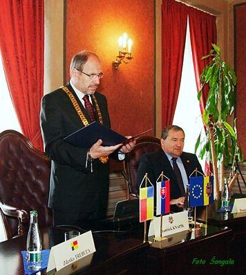 veľvyslancov privítal na pôde Historickej radnice primátor Košíc František Knapík