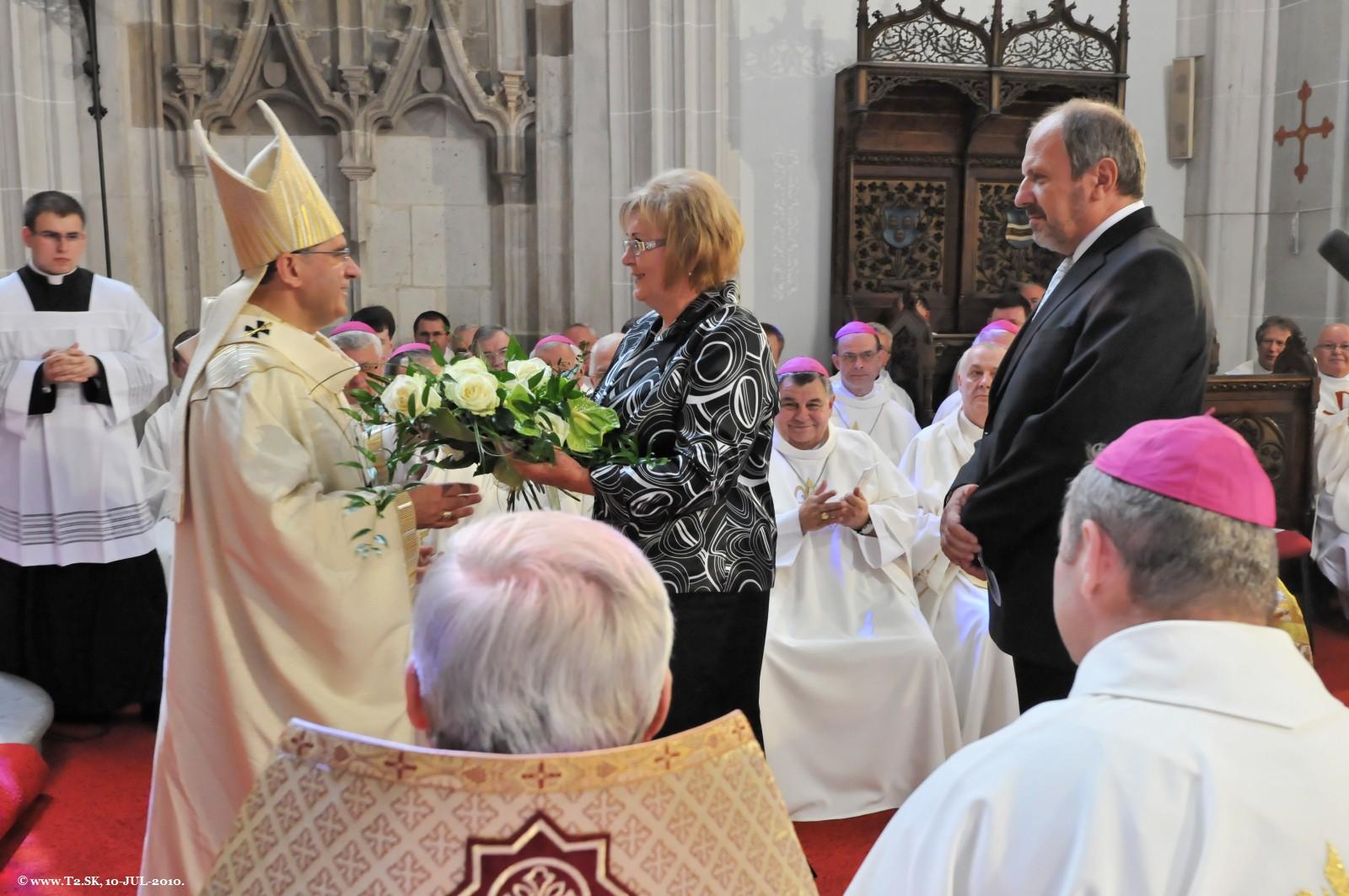 Gratulácia primátora mesta Košice Františka Knapíka s manželkou