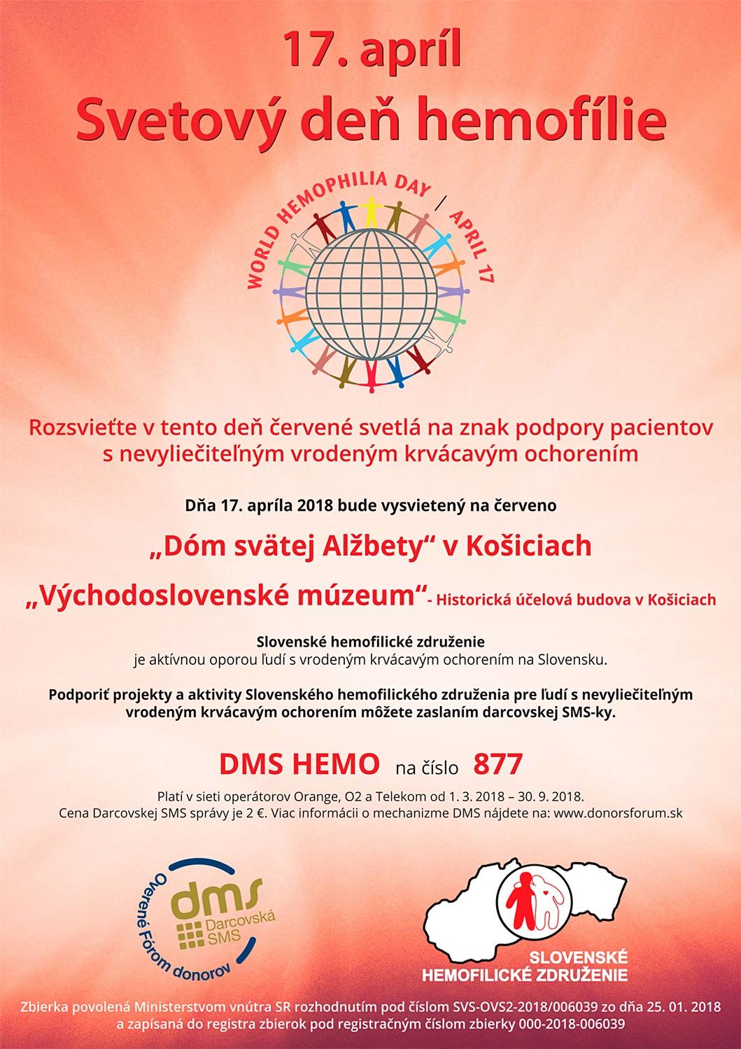 Plagát Deň hemofílie