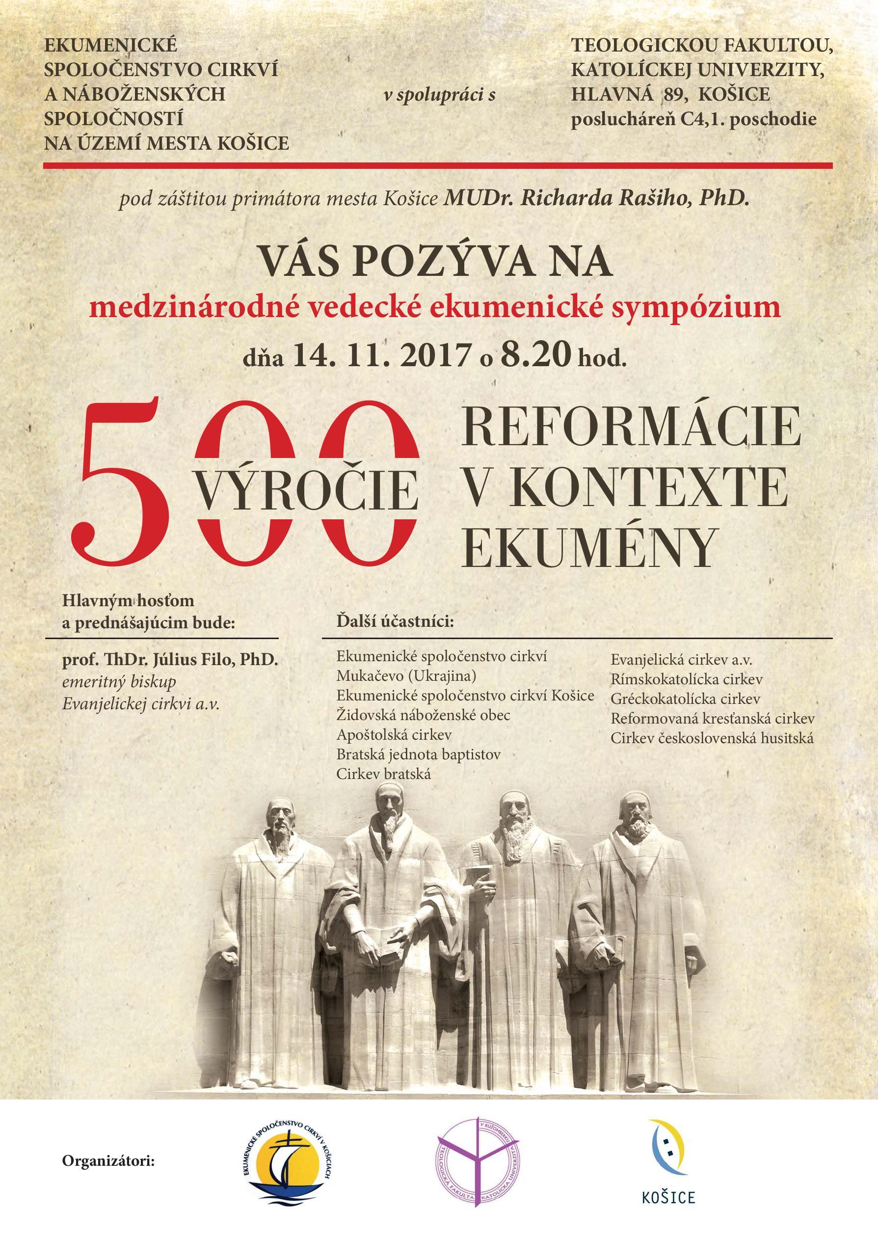 500 rokov reformácie vo svetle ekumeny