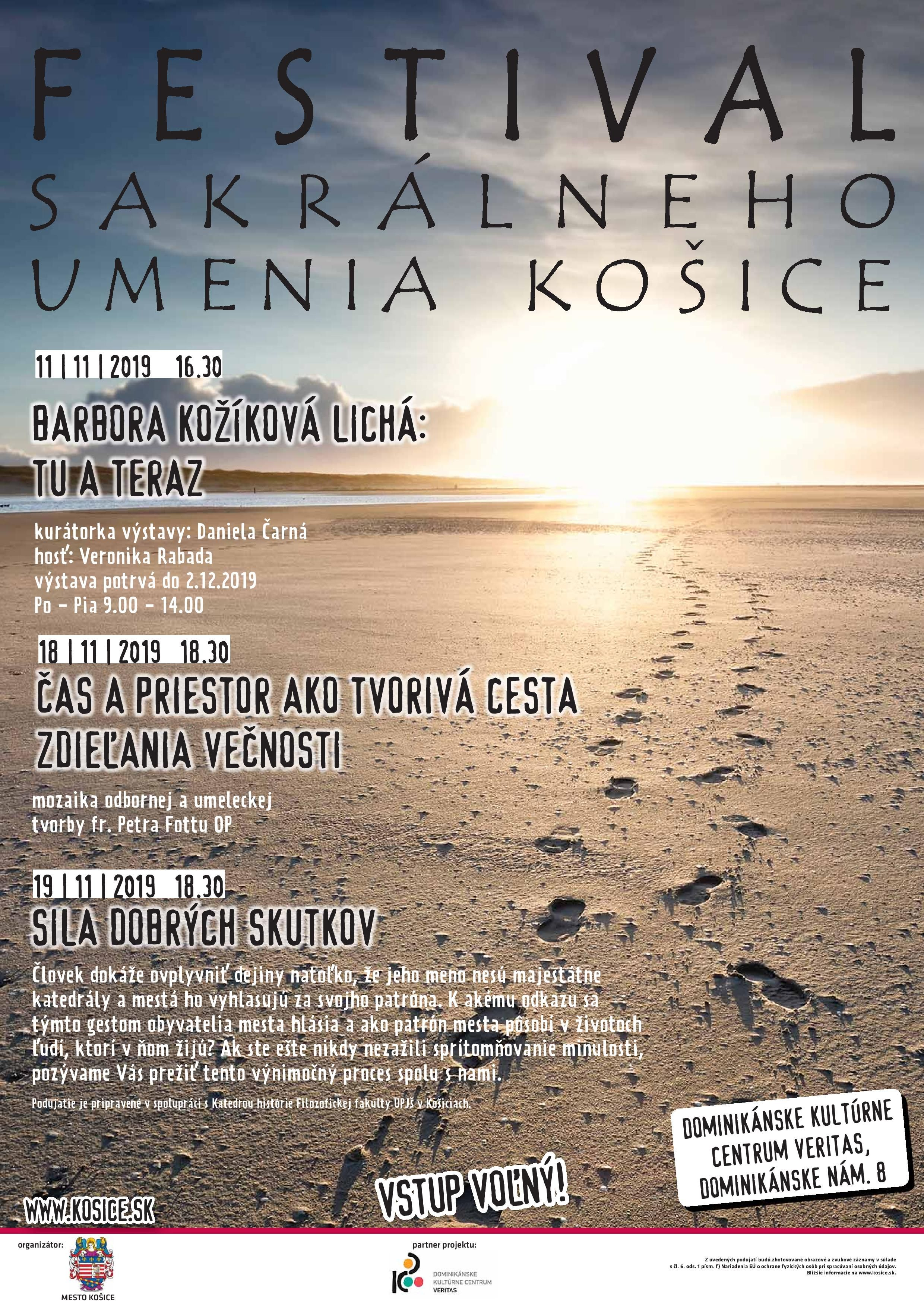 11.11.-19.11.2019 Podujatia v Dominikánskom kultúrnom centre VERITAS