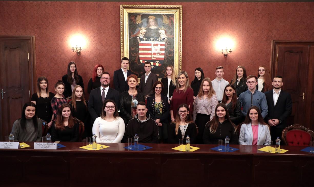 Prijatie poľských a slovenských študentov