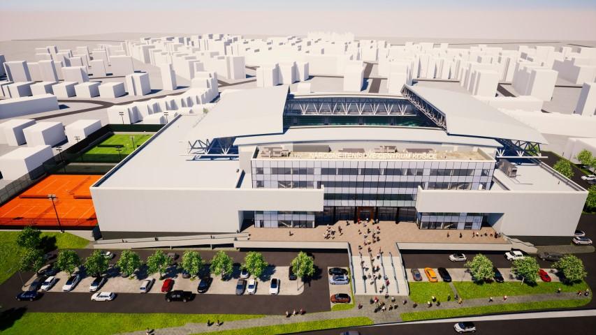 Národné tenisové centrum - vizualizácia