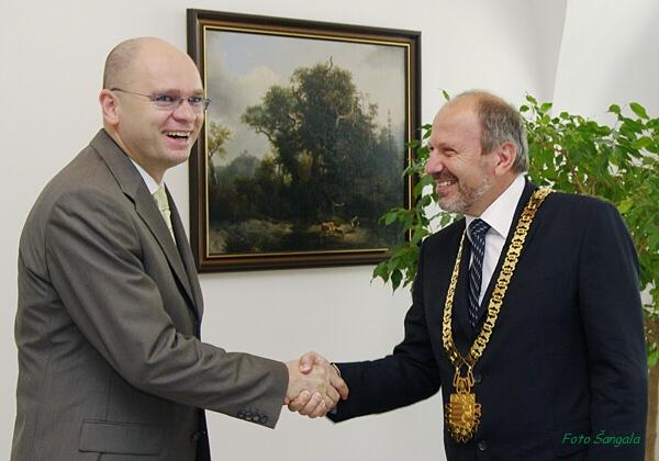 Predsedu parlamentu prijal primátor mesta