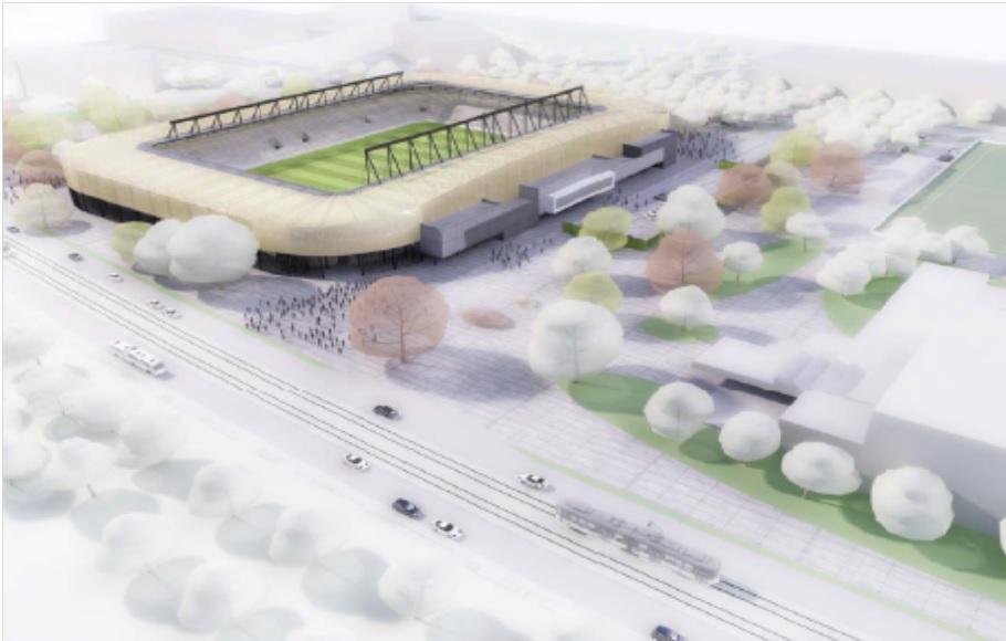 Vizualizácia nového štadióna