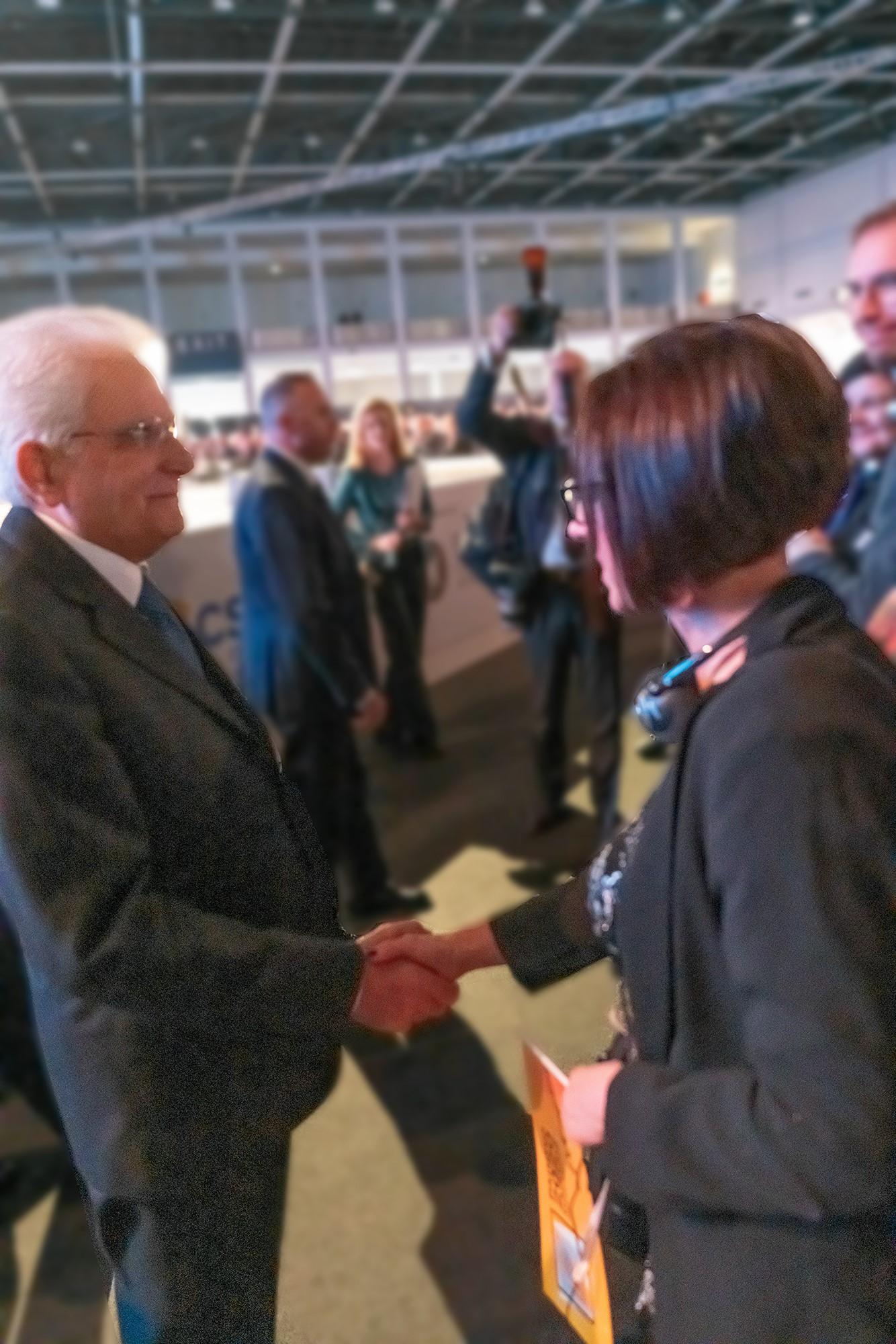 Viceprimátorka Gurbáľová s talianskym prezidentom Mattarellom