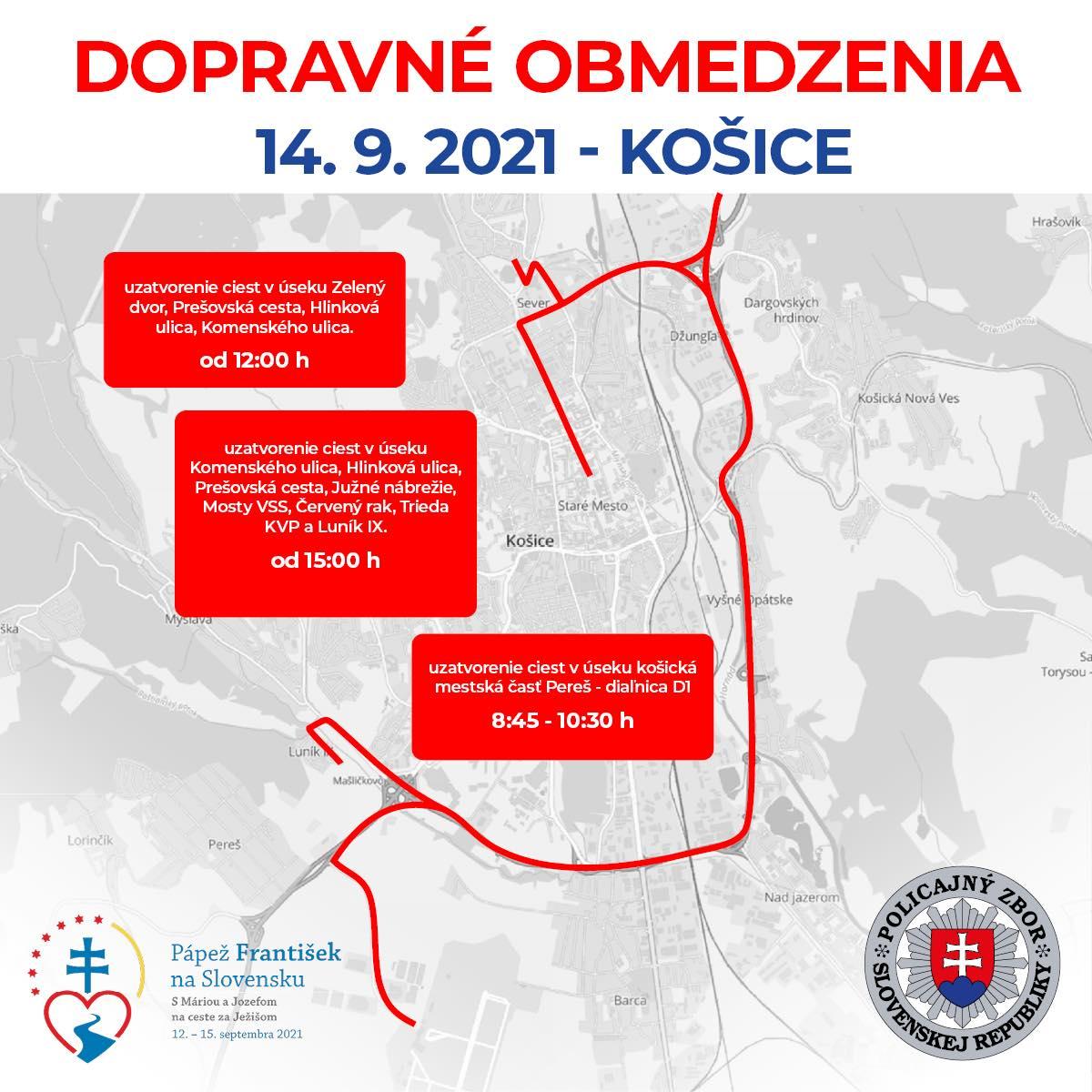 Dopravné obmedzenia - Košice