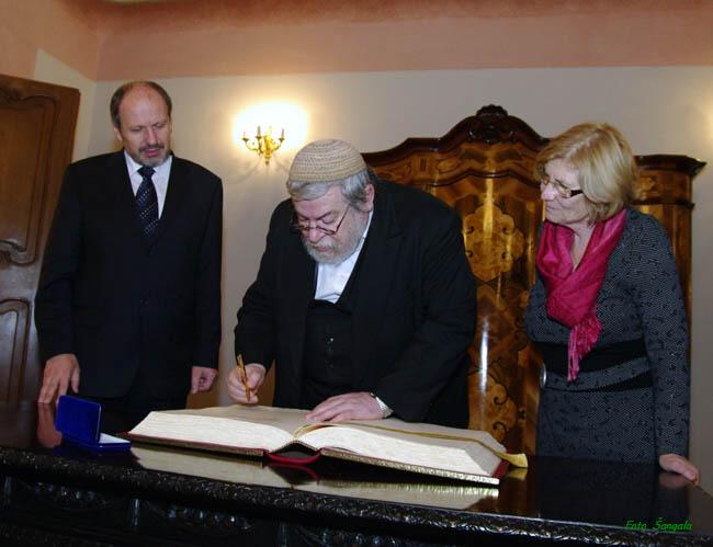 prijatie Karola Sidona v Historickej radnici mesta