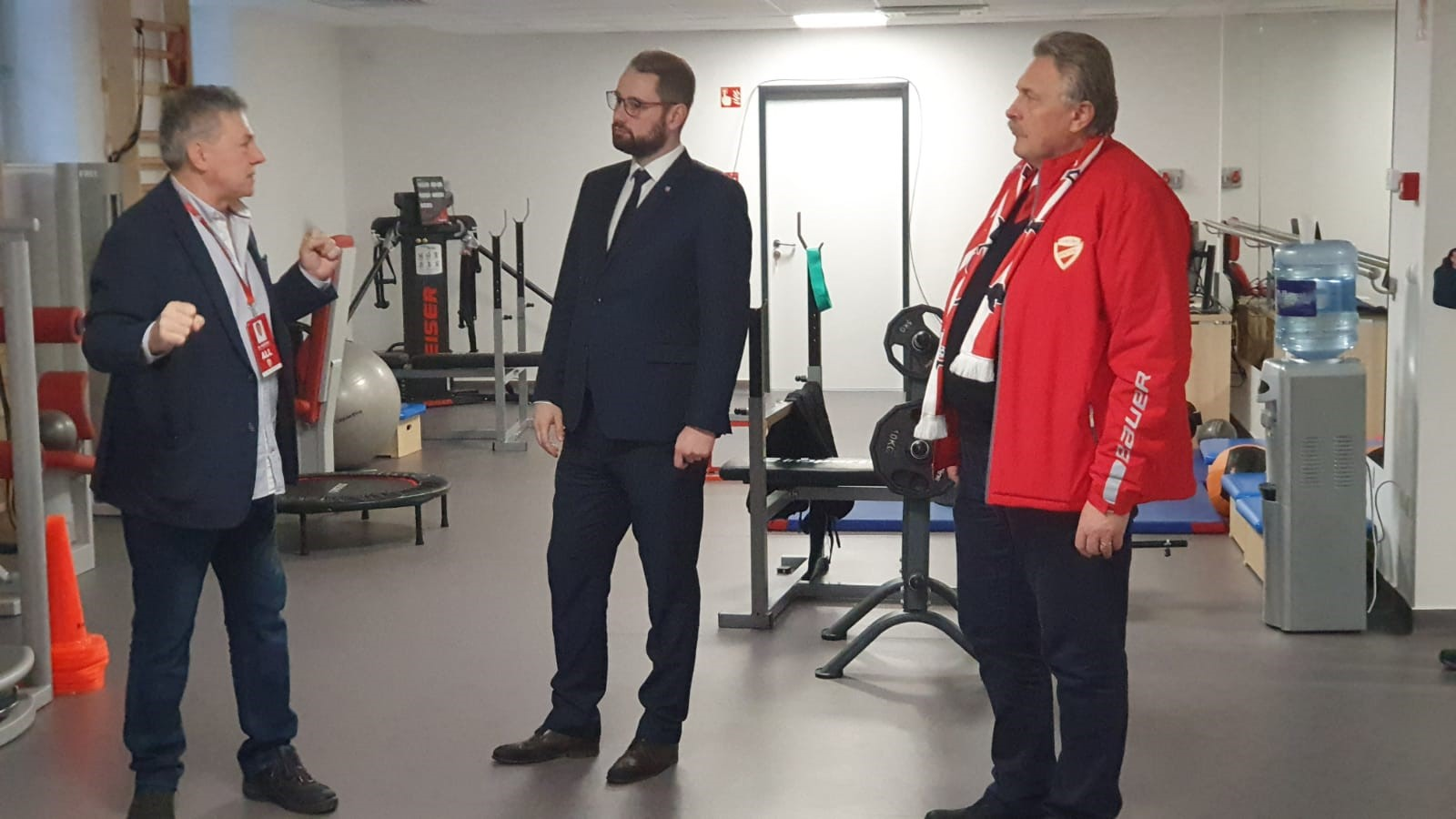 Návšteva viceprimátora Marcela Gibódu na štadióne v Miskolci