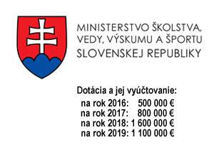 Logo MŠVVaŠ - odklik na register dotácií v oblasti športu