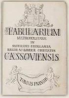 Inventár F. A. Schwartzenbacha – titulný list I. dielu