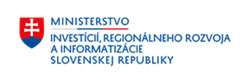 Logo Ministerstvo investícií, reg. rozvoja a informatizácie SR