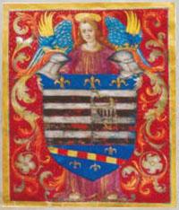 Erb mesta Košice zobrazený na 4. erbovej listine z r. 1502